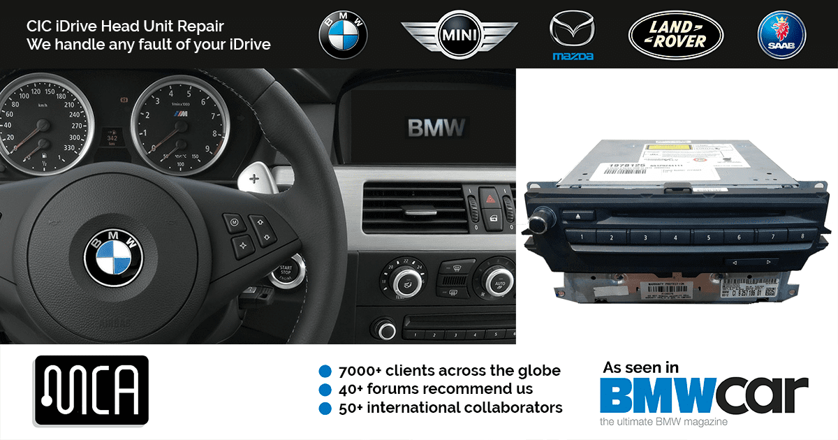 BMW CIC iDrive Repair | by MCA | Recommended on 40+ BMW forums