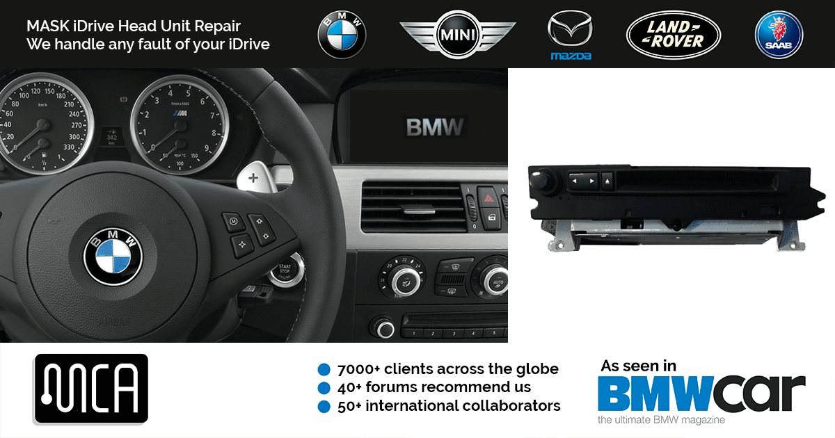 BMW M-ASK iDrive Repair | MCA | Recommended on 40+ BMW forums