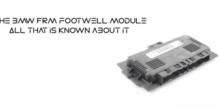 BMW FRM Footwell