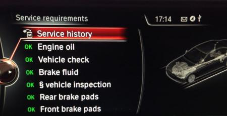 BMW iDrive Service History