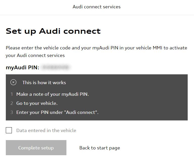 my Audi - MMI Audi connect