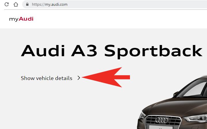 my Audi - Show vehicle details