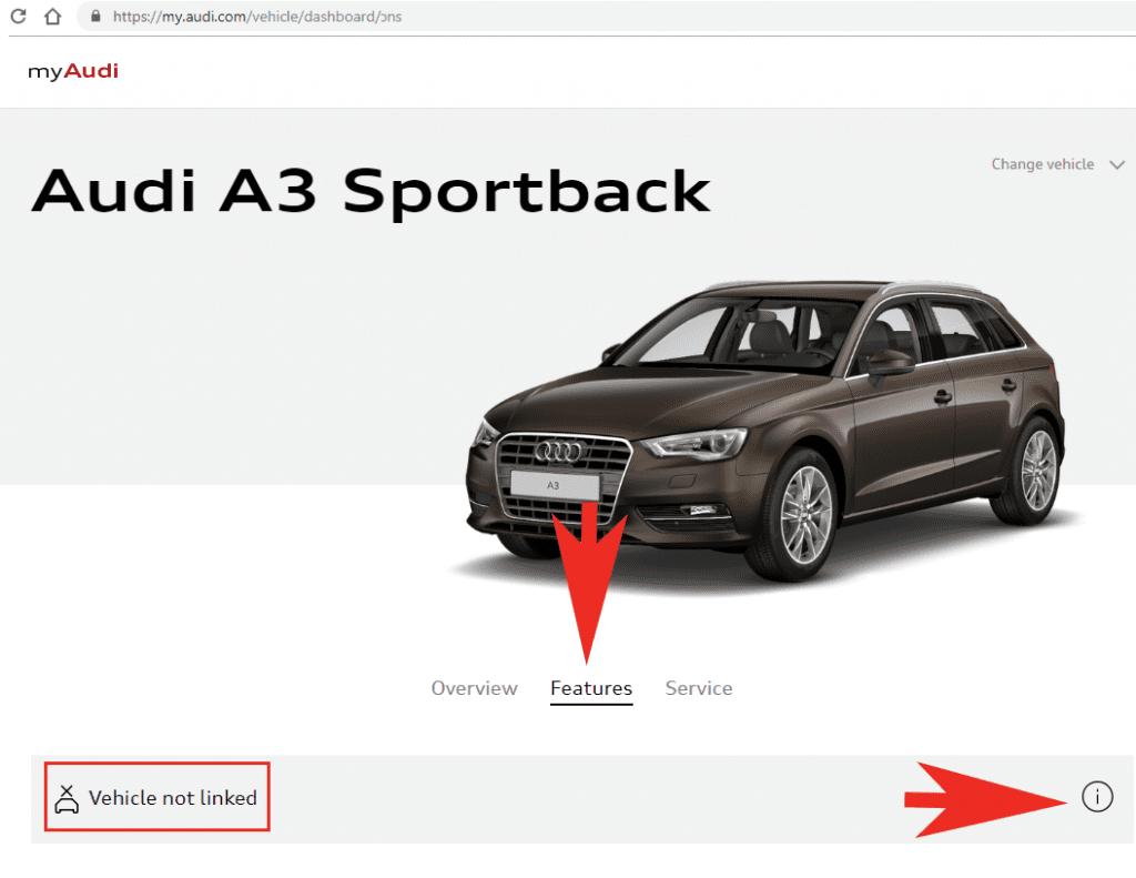 my Audi - Vehicle not linked