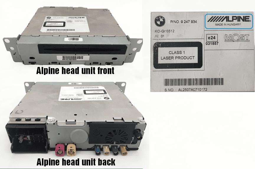 Alpine BMW iDrive head unit
