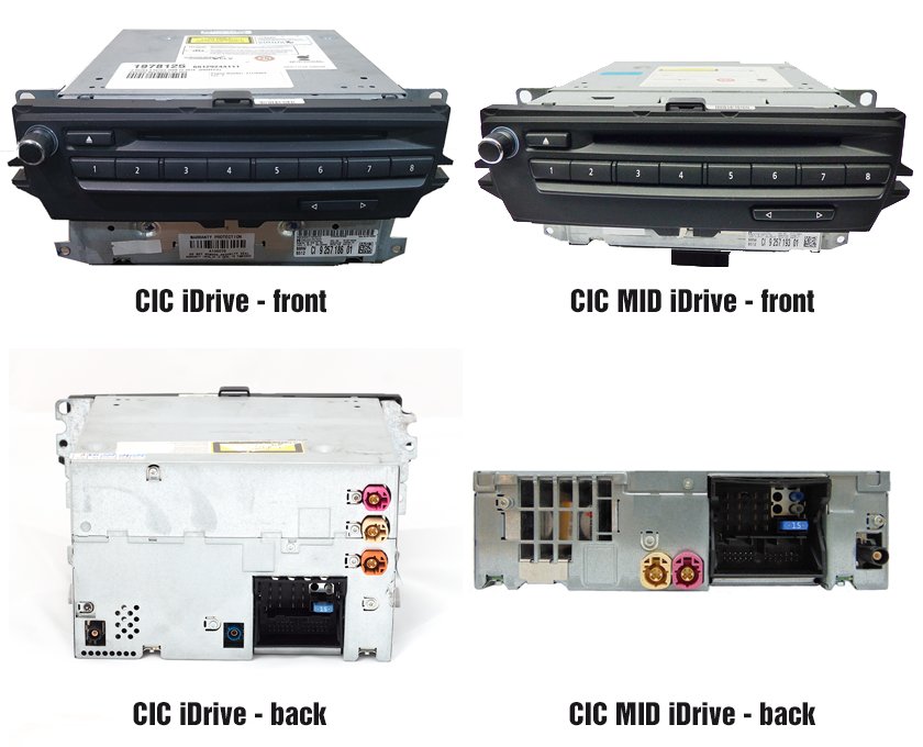 BMW CIC vs CIC MID iDrive navigation