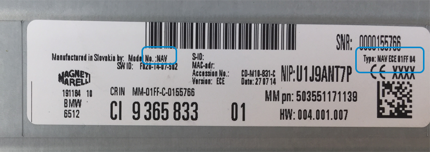 HU ENTRY NAV label