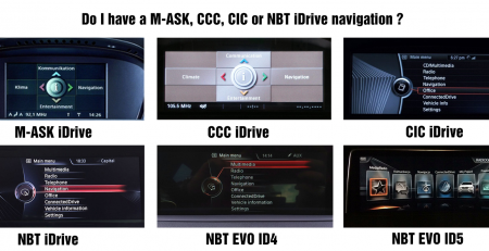 MASK, CCC, CIC, NBT and NBT EVO iDrive menu