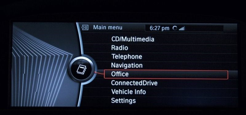 CIC iDrive home menu