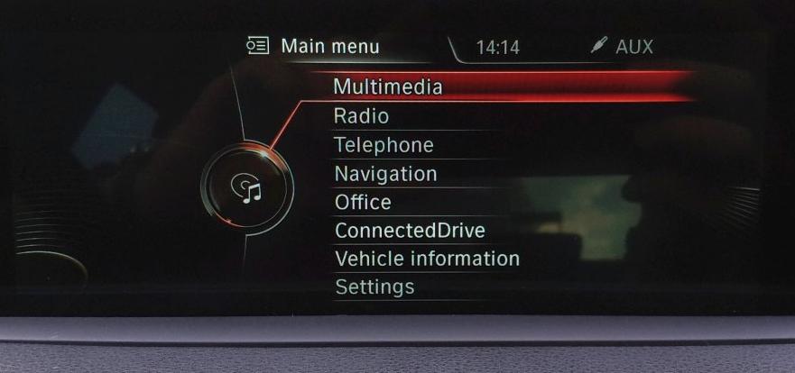 NBT EVO ID4 home menu