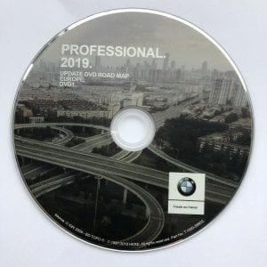 BMW Professional maps DVD 2019